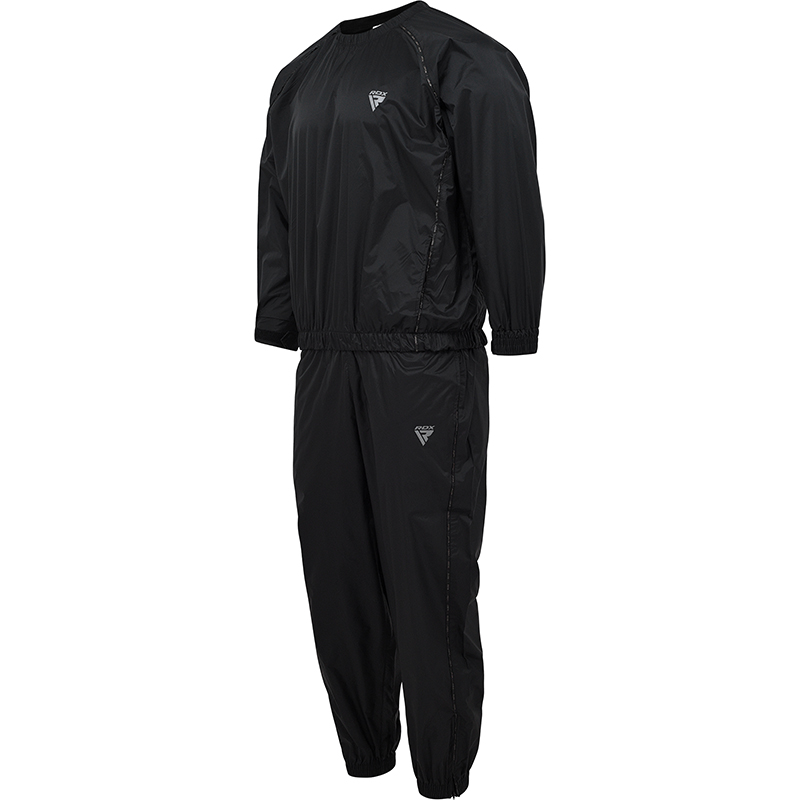RDX S7 Black Nylon Sweat Sauna Suit for Weight Loss and Fitness