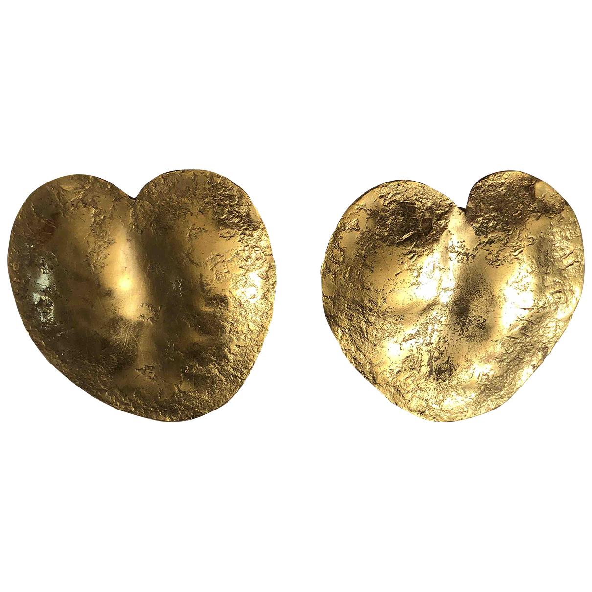 Goossens - Boucles d'oreilles   pour femme en metal - dore