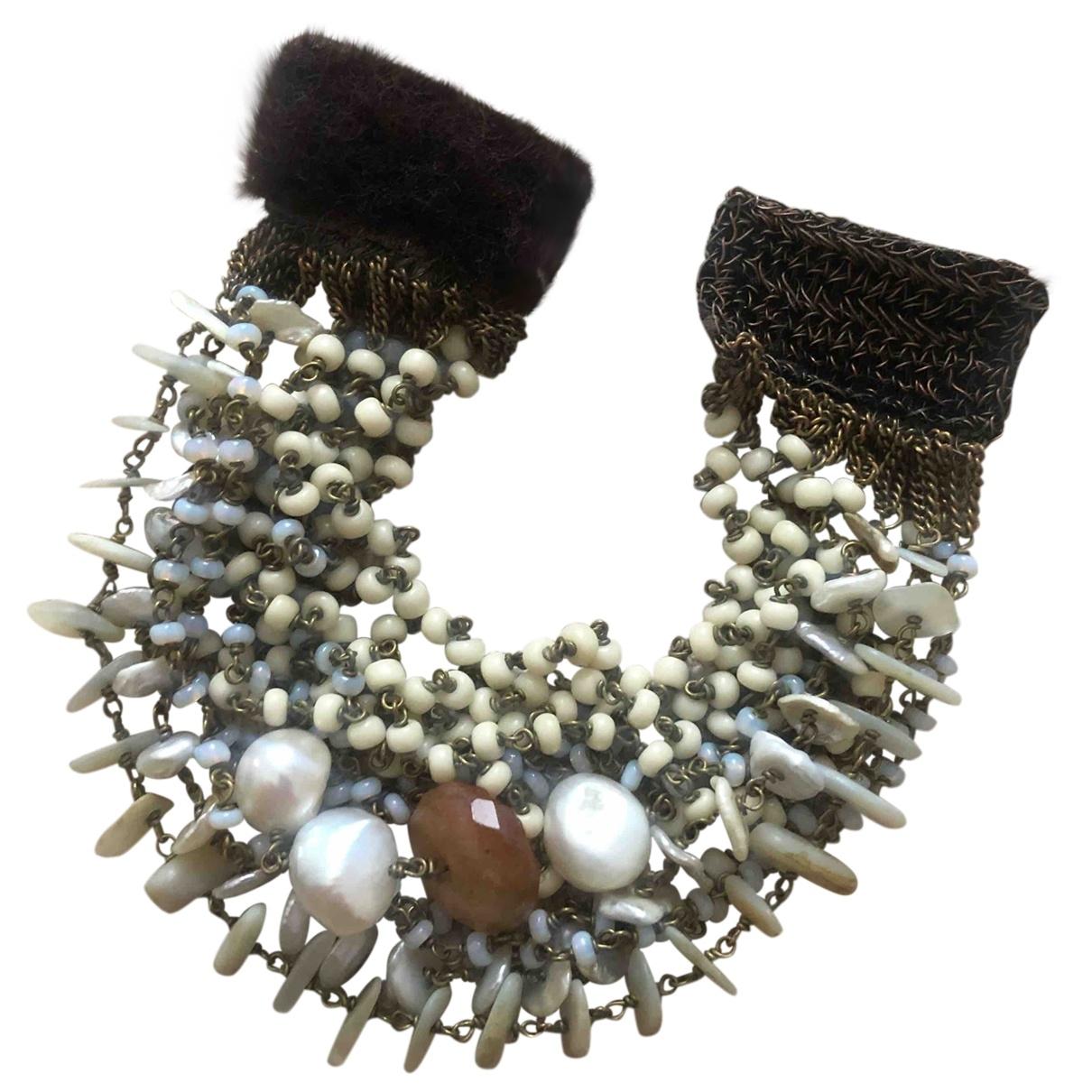 - Bracelet   pour femme en chaine - beige