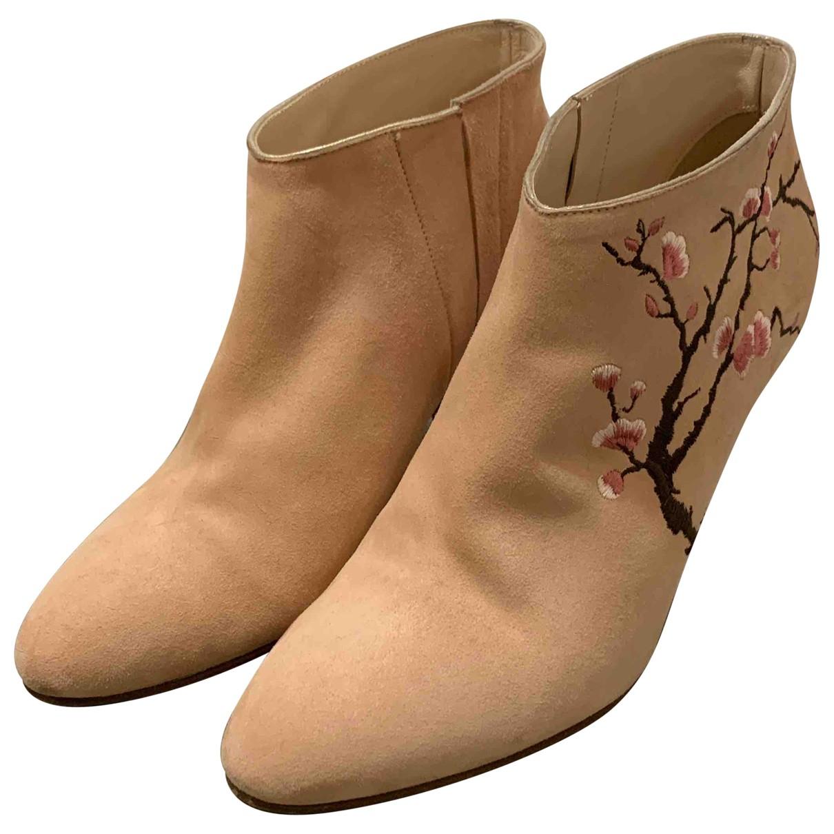 Patricia Blanchet - Boots   pour femme en suede - rose