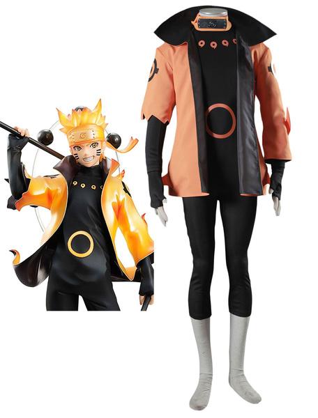 Milanoo Naruto Uzumaki Naruto Rikudou Sennin Model Cosplay Costume Halloween