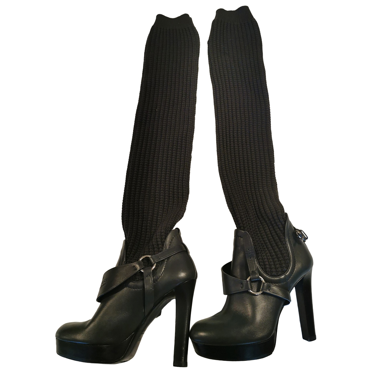 Gucci \N Grey Leather Boots for Women 36.5 EU