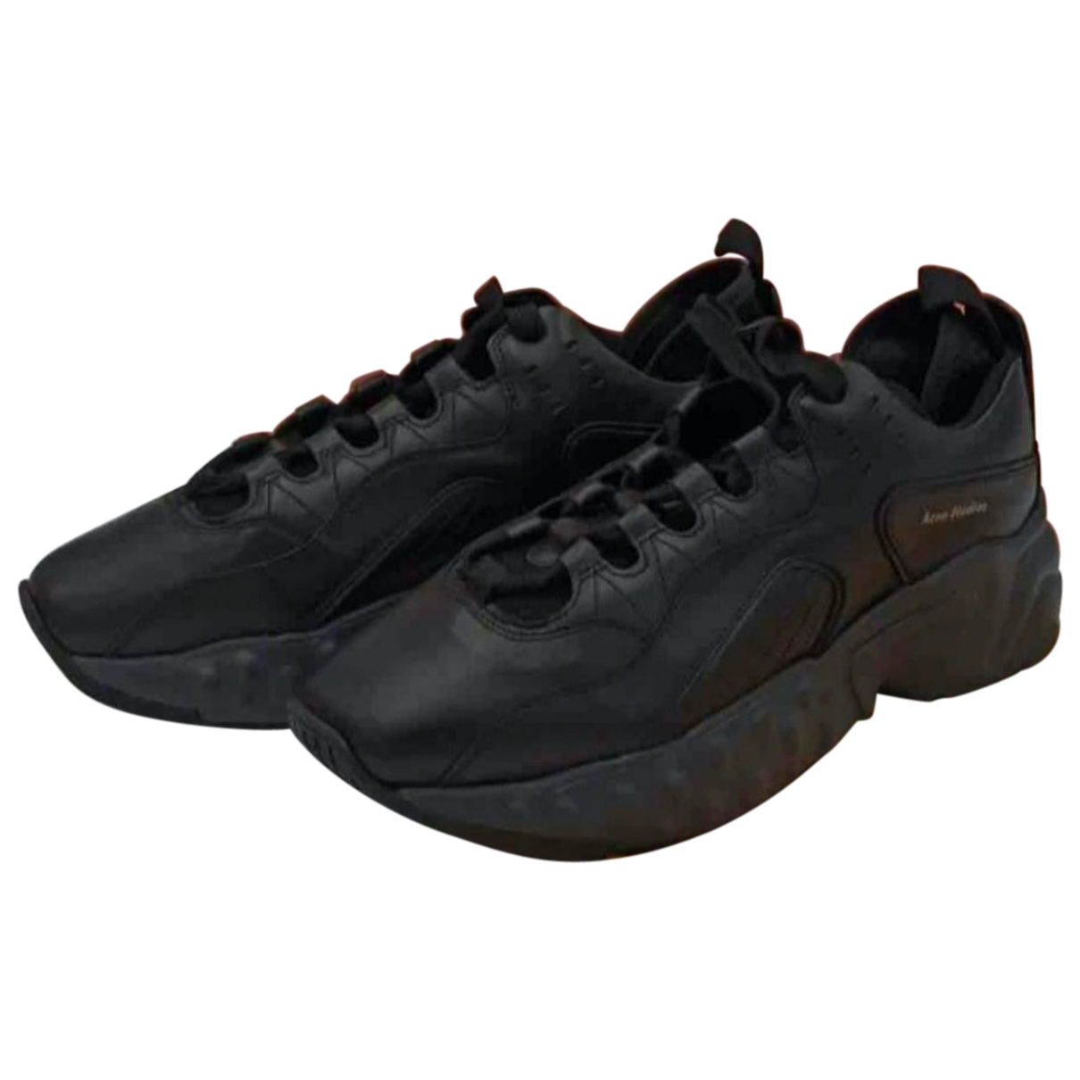 Acne Studios - Baskets Rockaway pour homme en cuir - noir