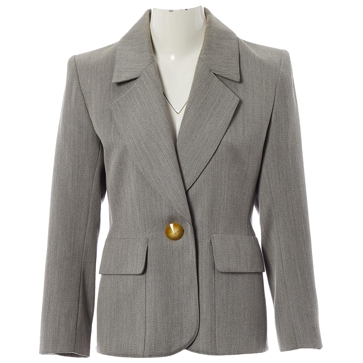 Yves Saint Laurent \N Grey Wool jacket for Women 38 FR