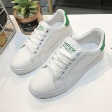 Letter Lace-up Skate Shoes