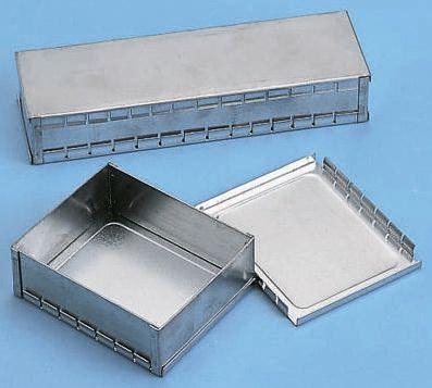 OKW Tin Plated Steel PCB Enclosure, 82 x 50 x 26mm
