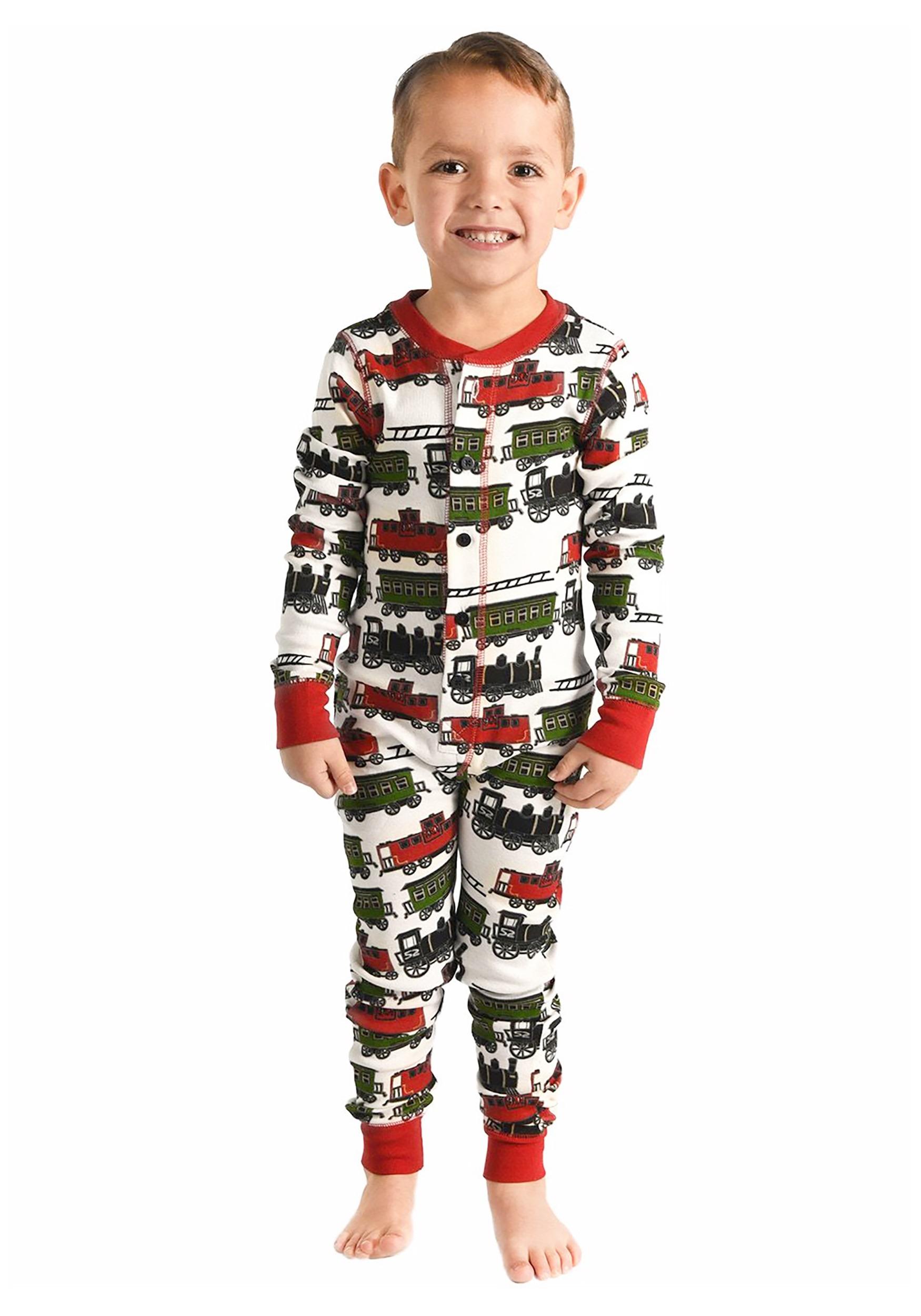 Trains Caboose Kids Flapjack Pajamas