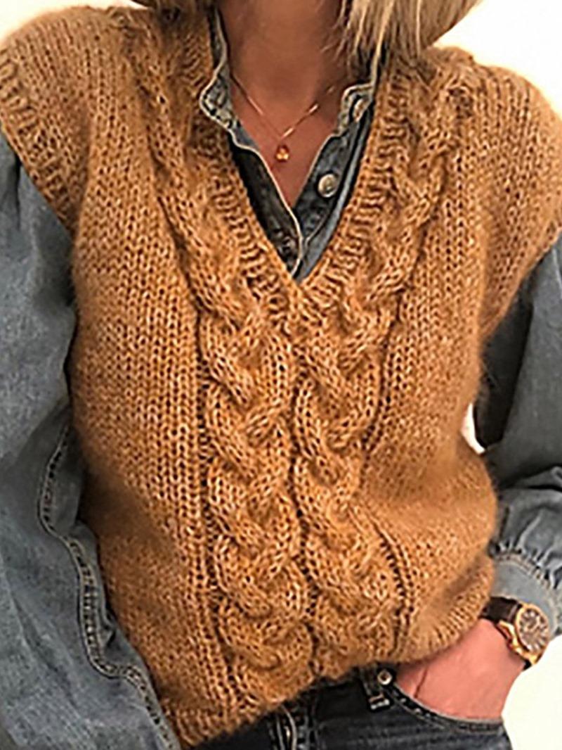 Ericdress Plain Lapel Winter Standard Vest
