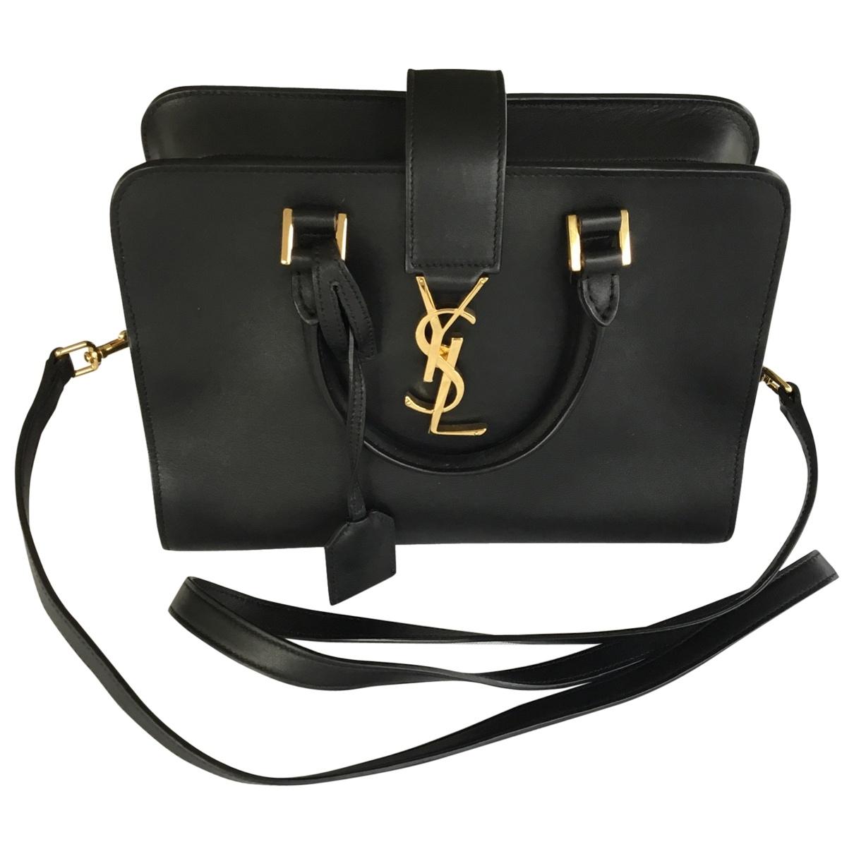 Saint Laurent Monogram Cabas Black Leather handbag for Women \N