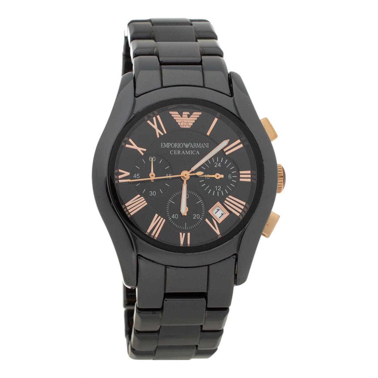 Emporio Armani N Black Ceramic watch for Men N