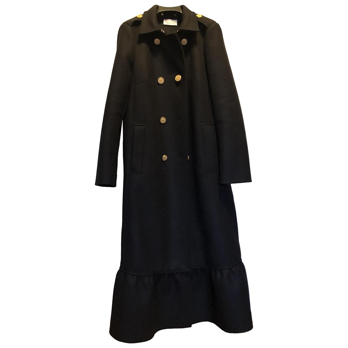Red Valentino Garavani \N Blue Wool coat for Women 44 IT