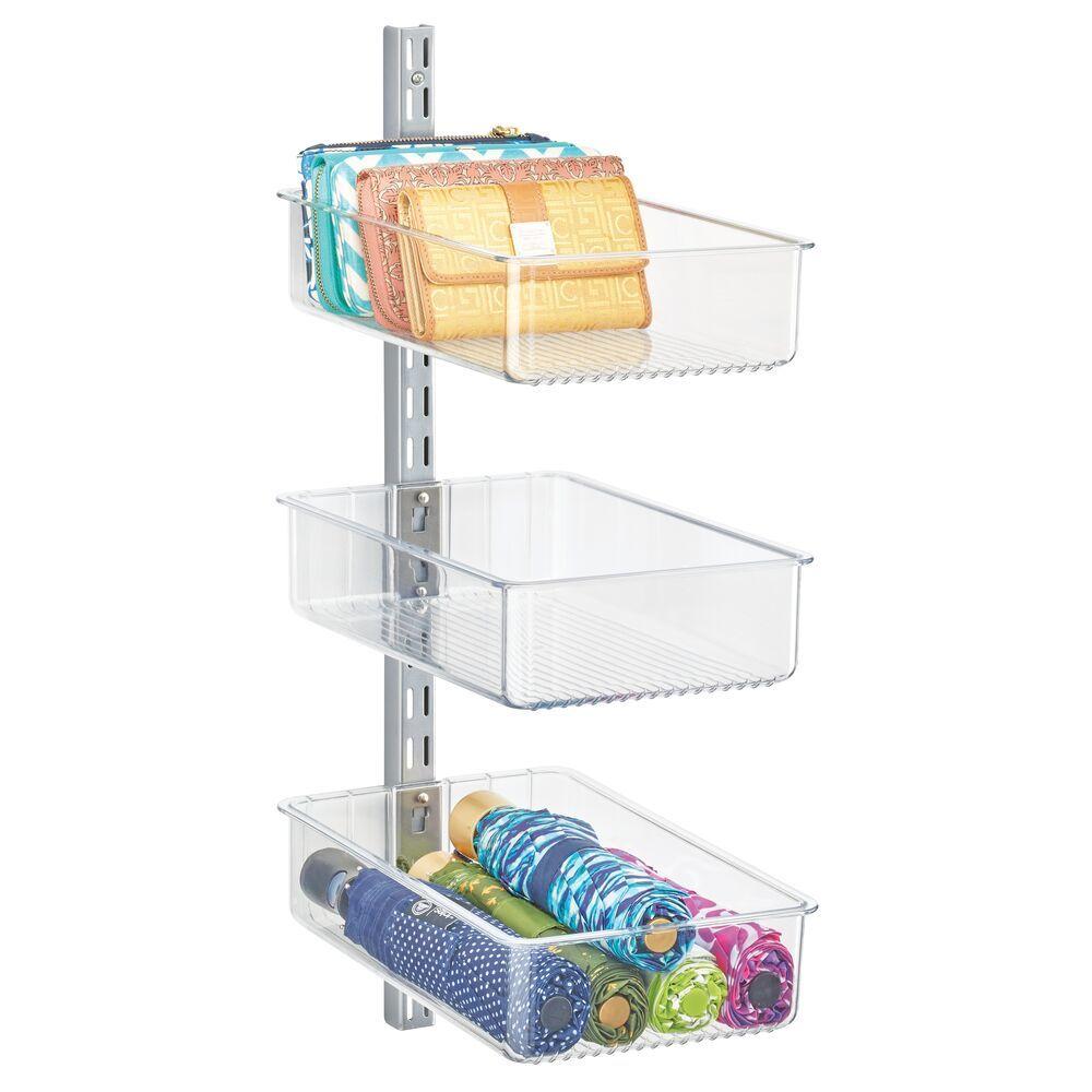 Wall Mount Storage Bins + Spine for Closet - 12.5