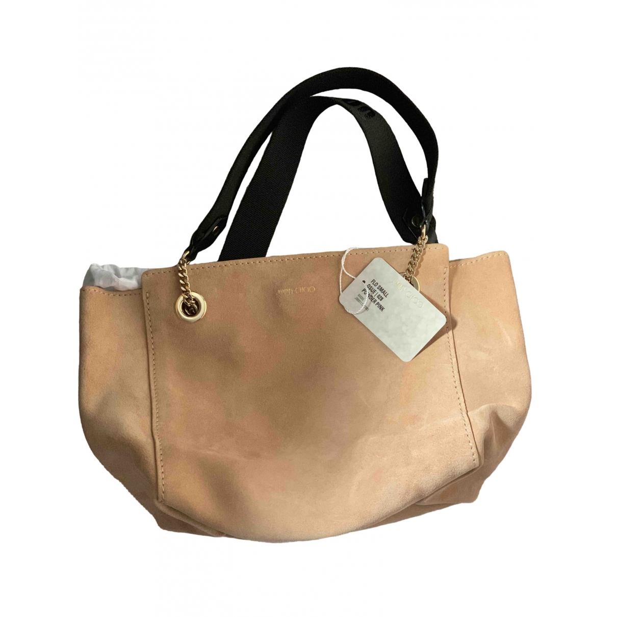 Jimmy Choo \N Handtasche in  Rosa Veloursleder
