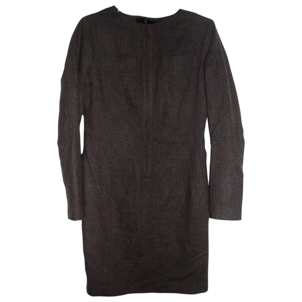 Jil Sander \N Kleid in  Braun Wolle