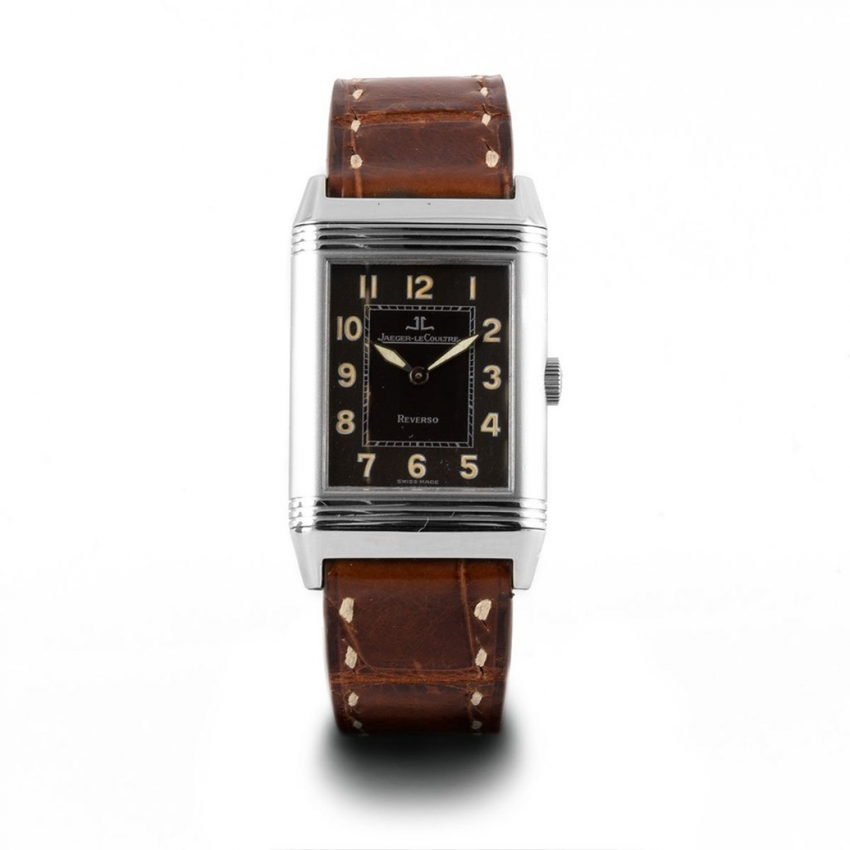 Jaeger-lecoultre Reverso Black Steel watch for Men \N