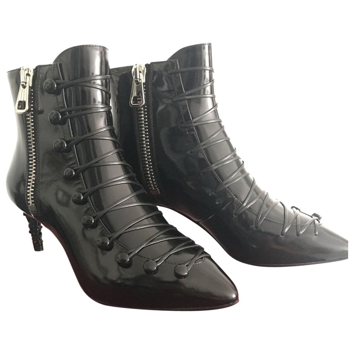 Bally \N Stiefel in  Schwarz Leder