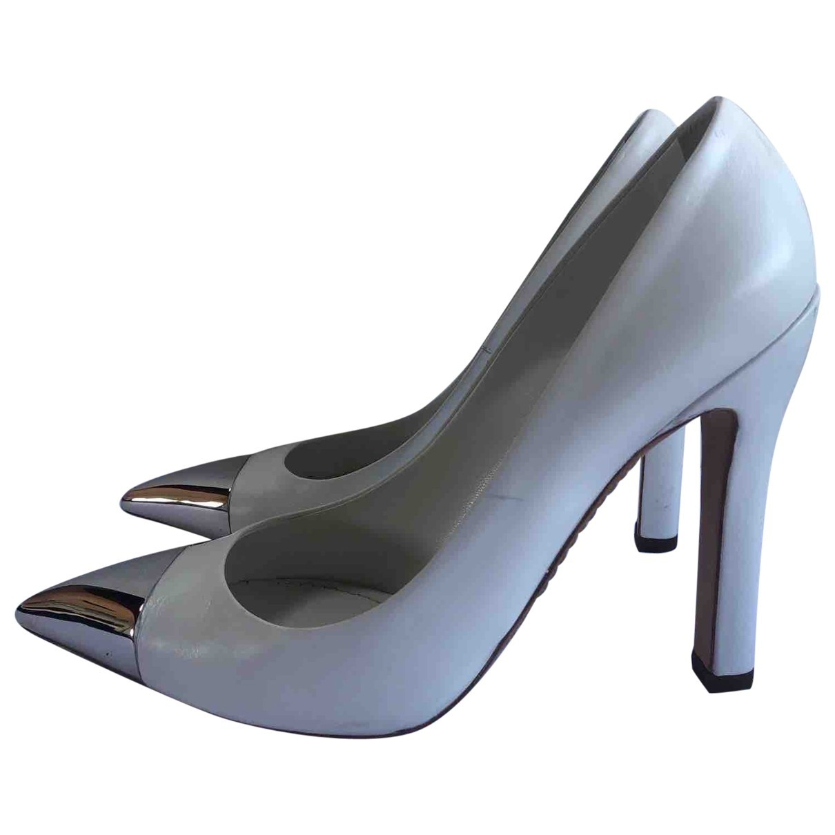 Louis Vuitton \N White Leather Heels for Women 36.5 IT