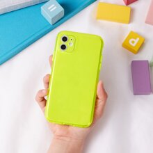 Neon Yellow Clear iPhone Case