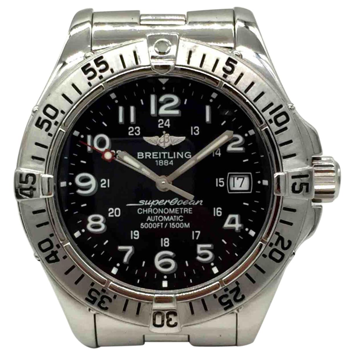 Breitling \N Uhr in  Schwarz Stahl