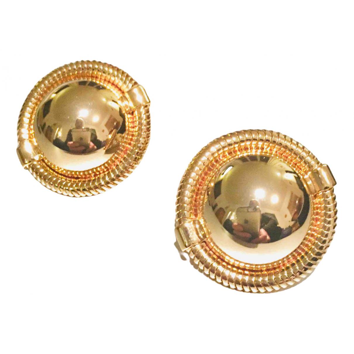 Miu Miu - Boucles doreilles   pour femme en plaque or - dore