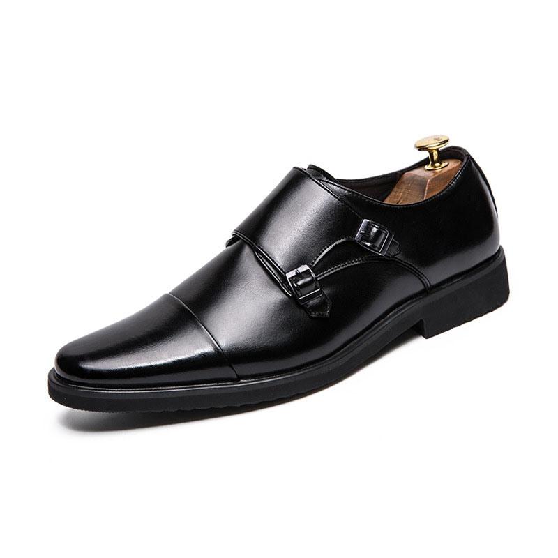 Ericdress PU Color Block Slip-On Round Toe Men's Dress Shoes