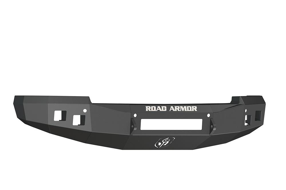 CHEVY Front Non-Winch Bumper Square Light Ports 1500 SILVERADO 14-16 BLACK Road Armor 314R0B-NW Stealth Series