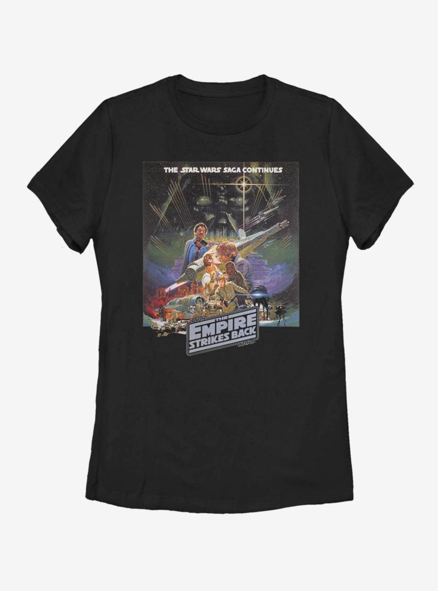 Star Wars Episode V The Empire Strikes Back Saga Continues Womens T-Shirt