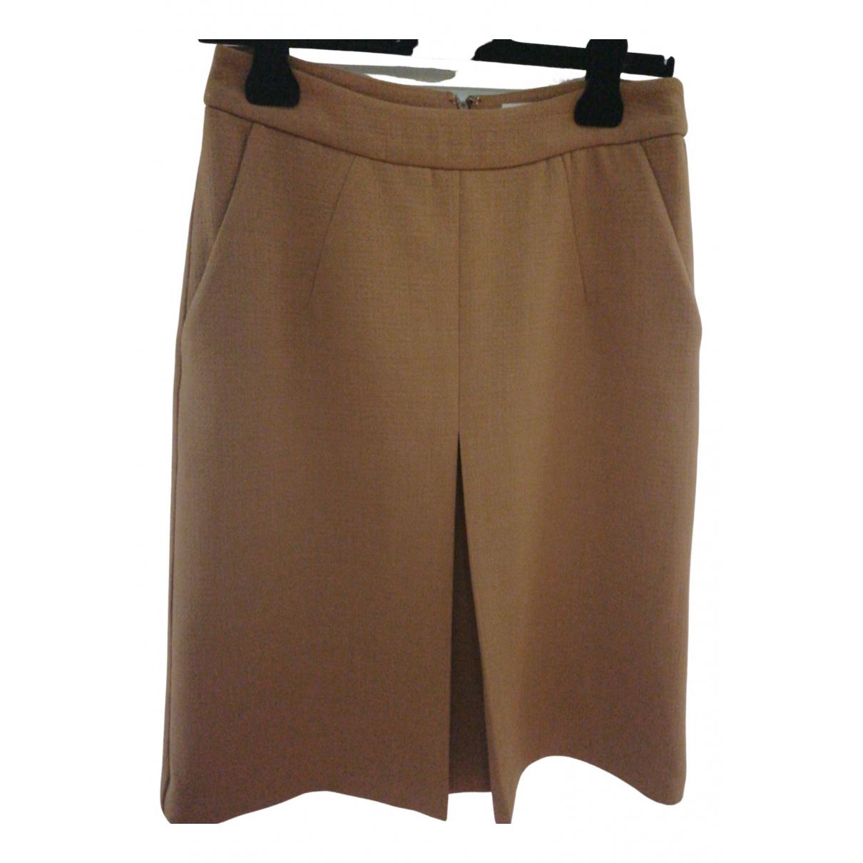 Essentiel Antwerp \N Camel Wool skirt for Women 36 FR