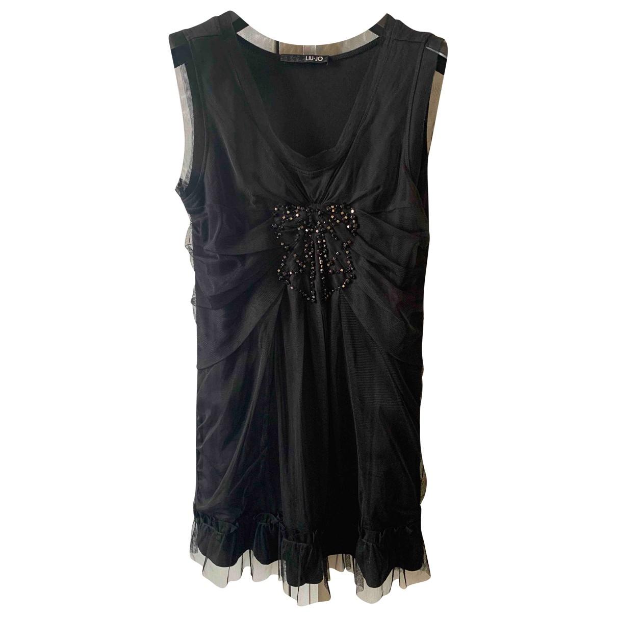 Liu.jo \N Kleid in  Schwarz Baumwolle - Elasthan