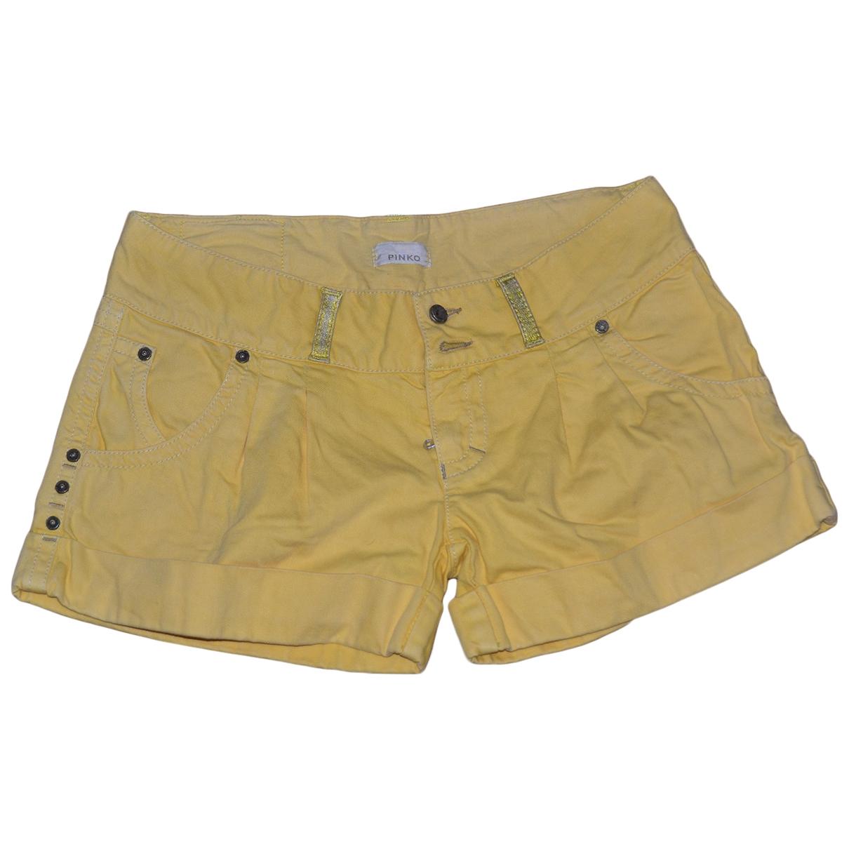 Pinko \N Shorts in  Gelb Baumwolle