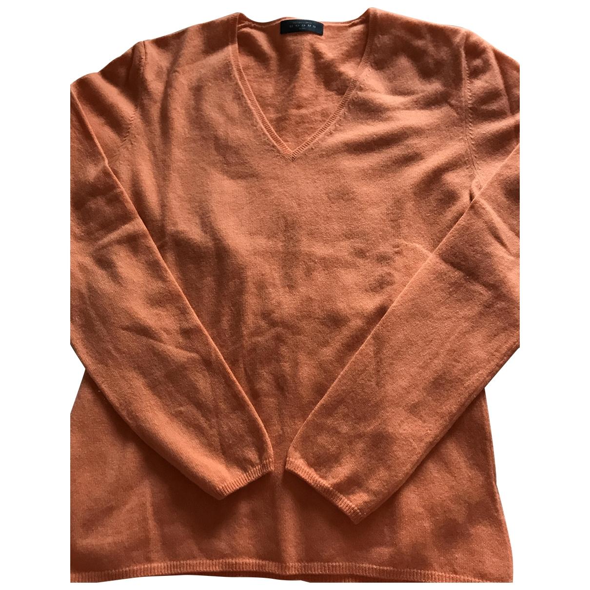 Hobbs - Pull   pour femme en cachemire - orange