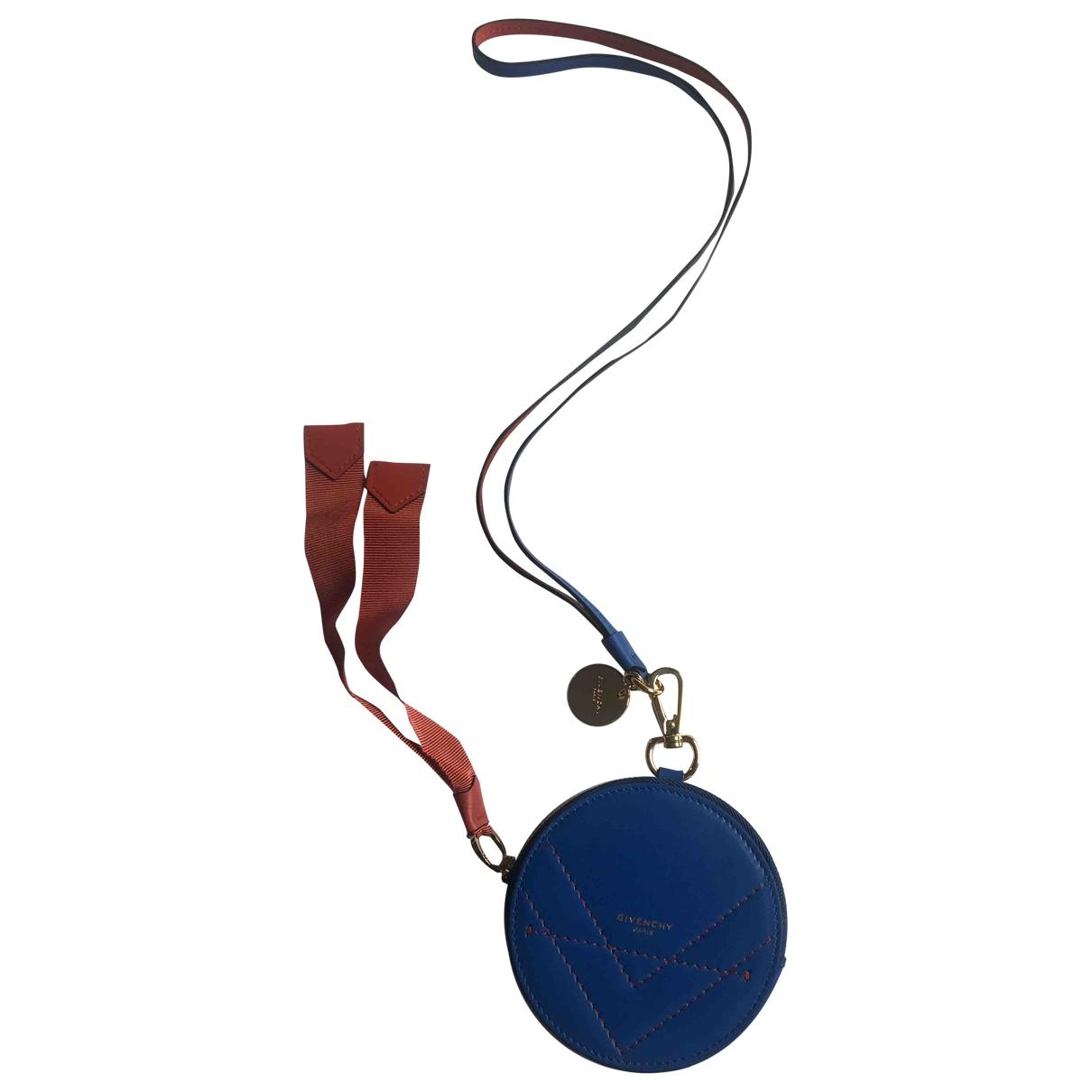 Givenchy - Petite maroquinerie   pour femme en cuir - bleu