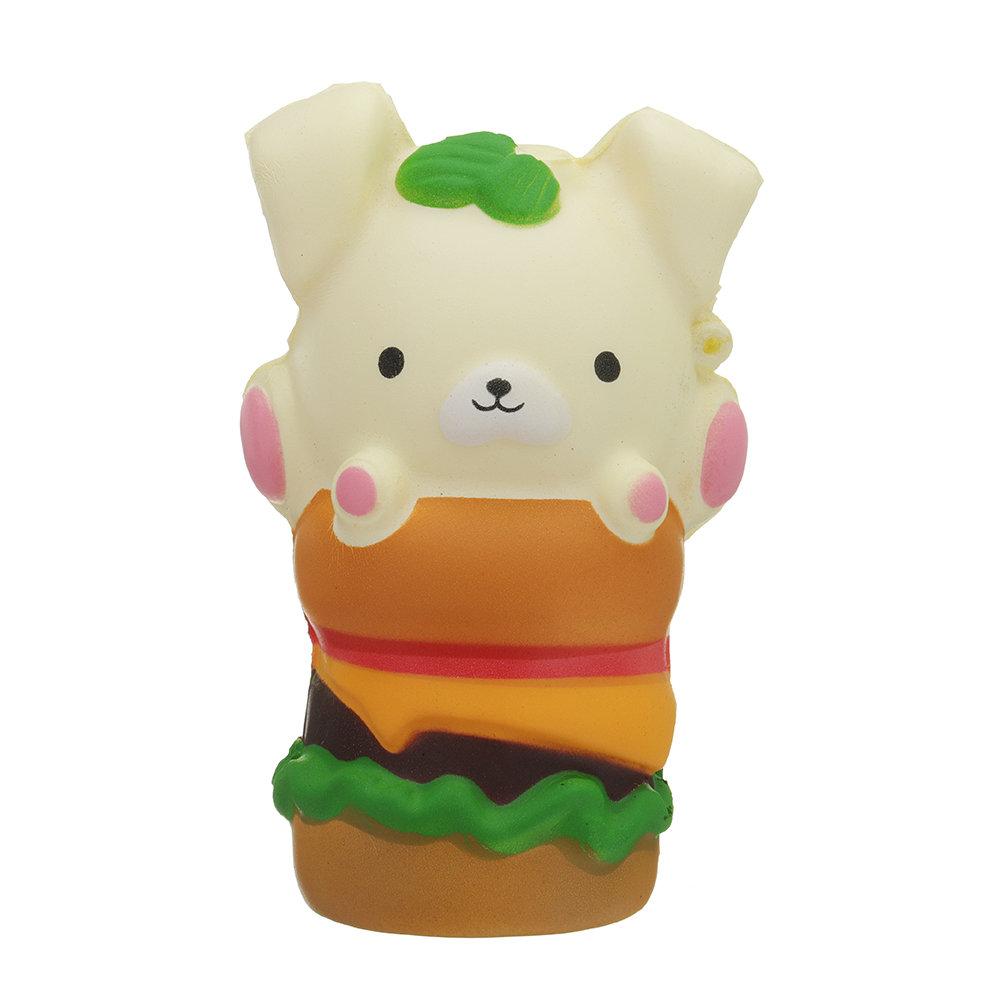 Kawaii Puppy Hamburger Squishy Slow Rising Cartoon Gift Collection Soft Toy