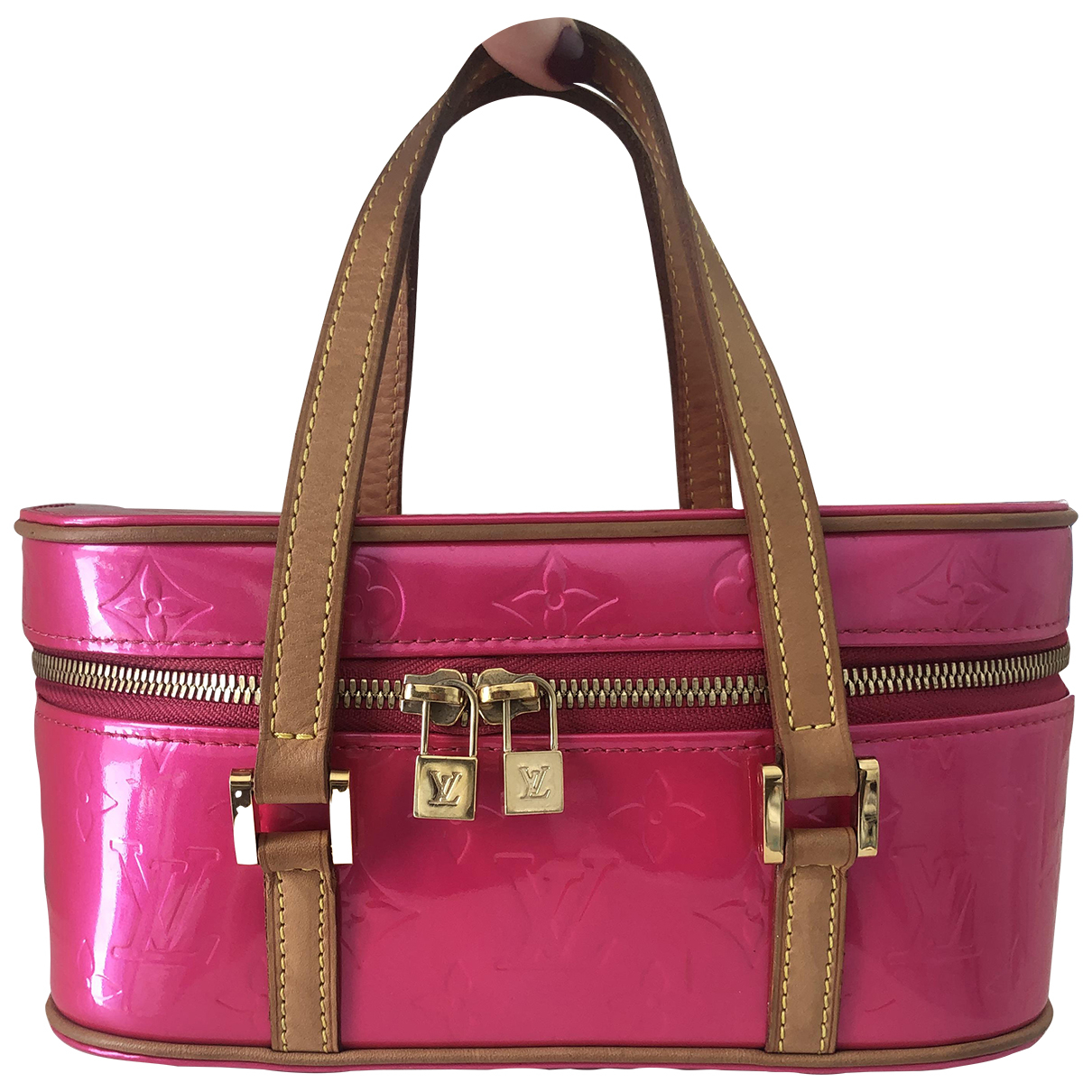 Louis Vuitton N Pink Patent leather Travel bag for Women N