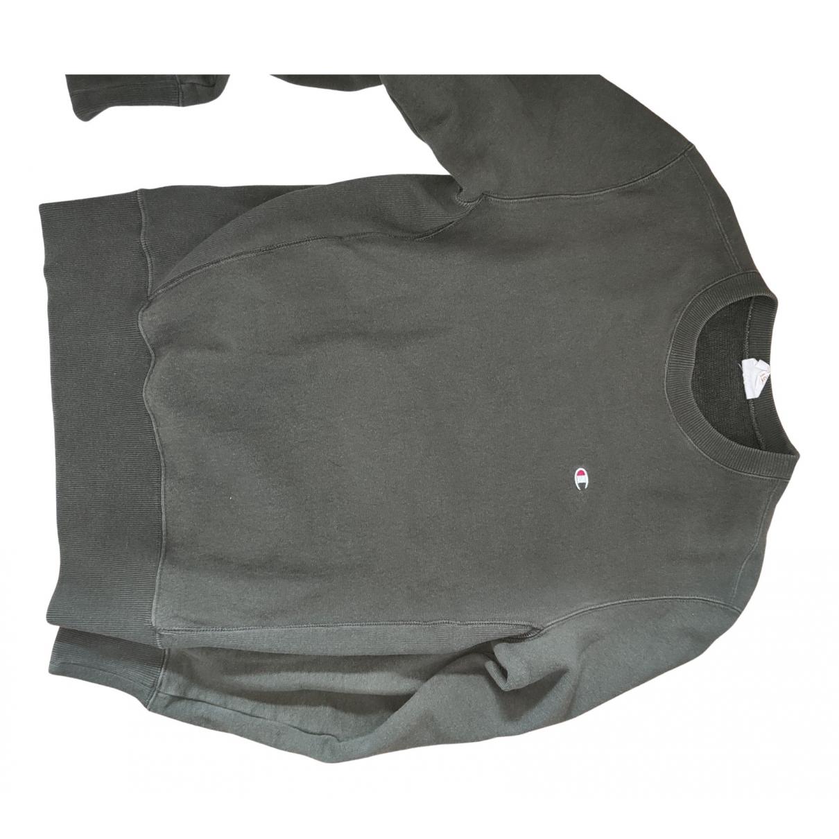Champion \N Pullover.Westen.Sweatshirts  in  Khaki Polyester