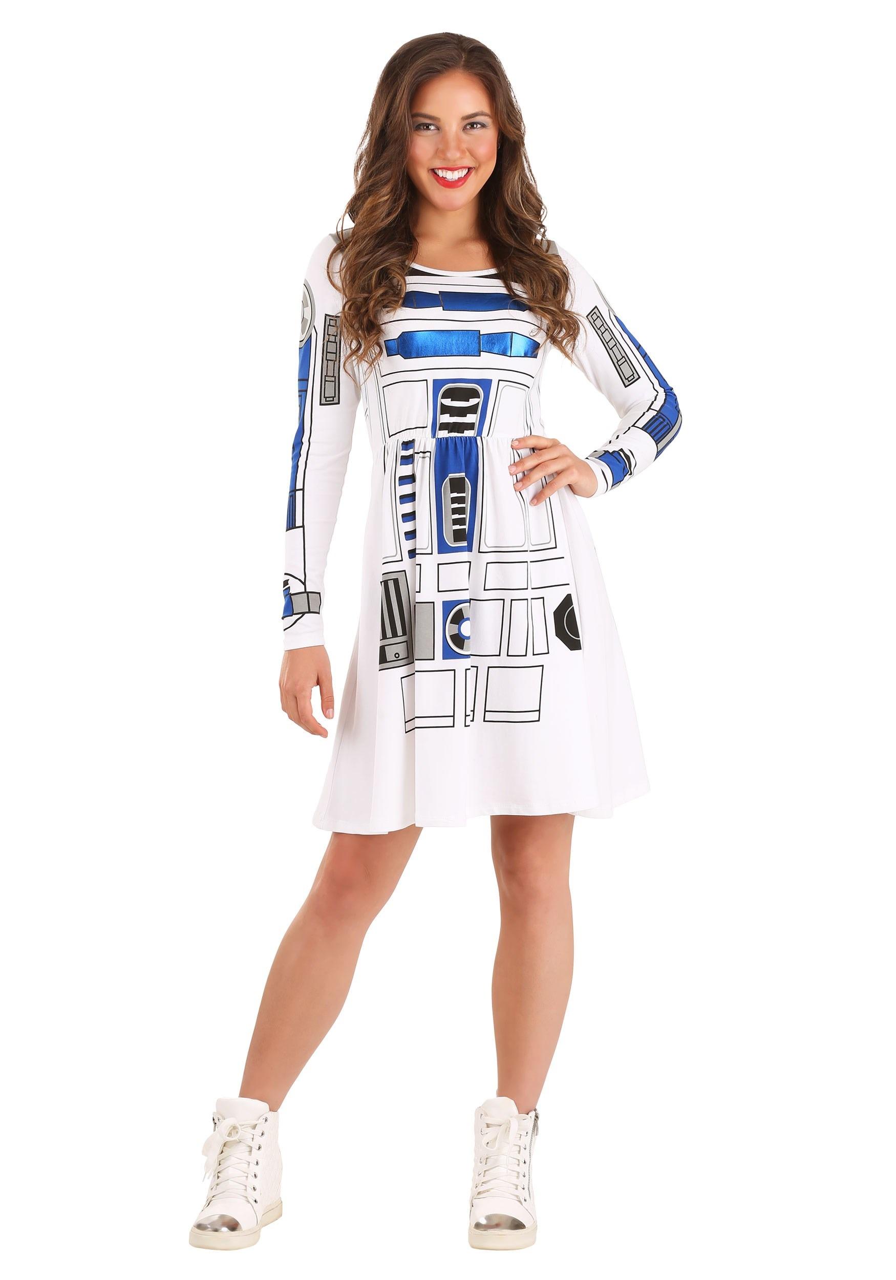Star Wars I am R2D2 Skater Dress for Womens Costume