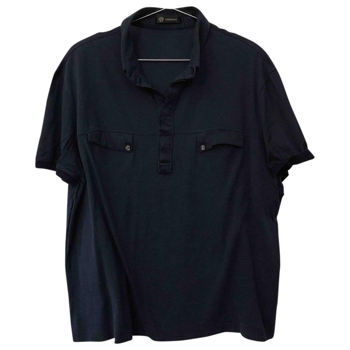 Versace \N Poloshirts in  Blau Baumwolle