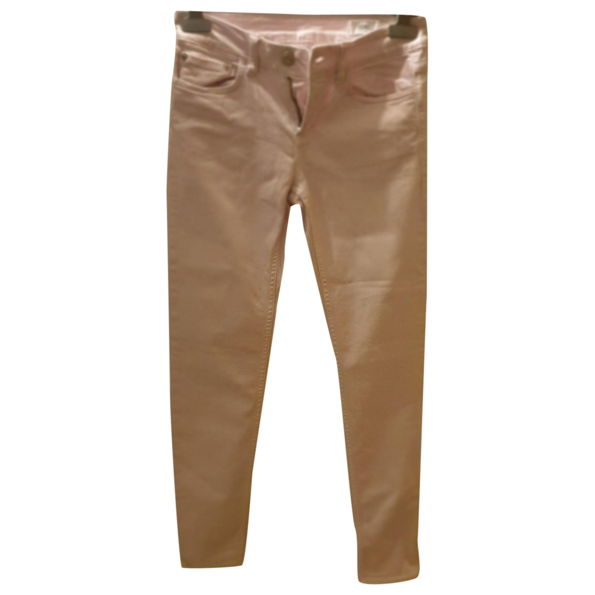 Closed \N Pink Cotton Trousers for Women 38 IT