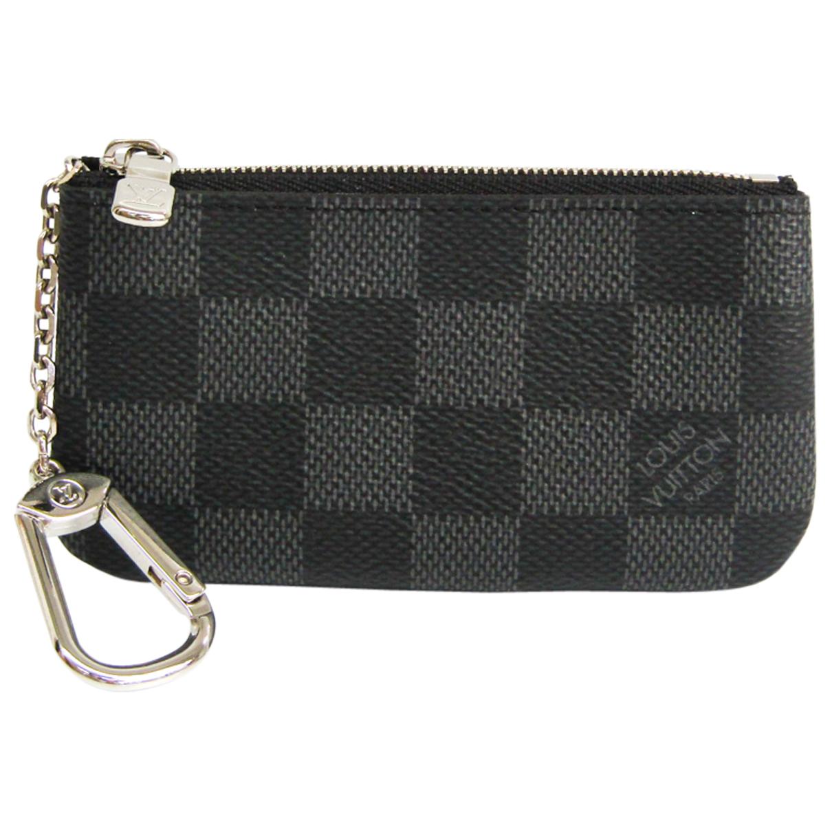 Louis Vuitton - Portefeuille   pour femme en toile - anthracite