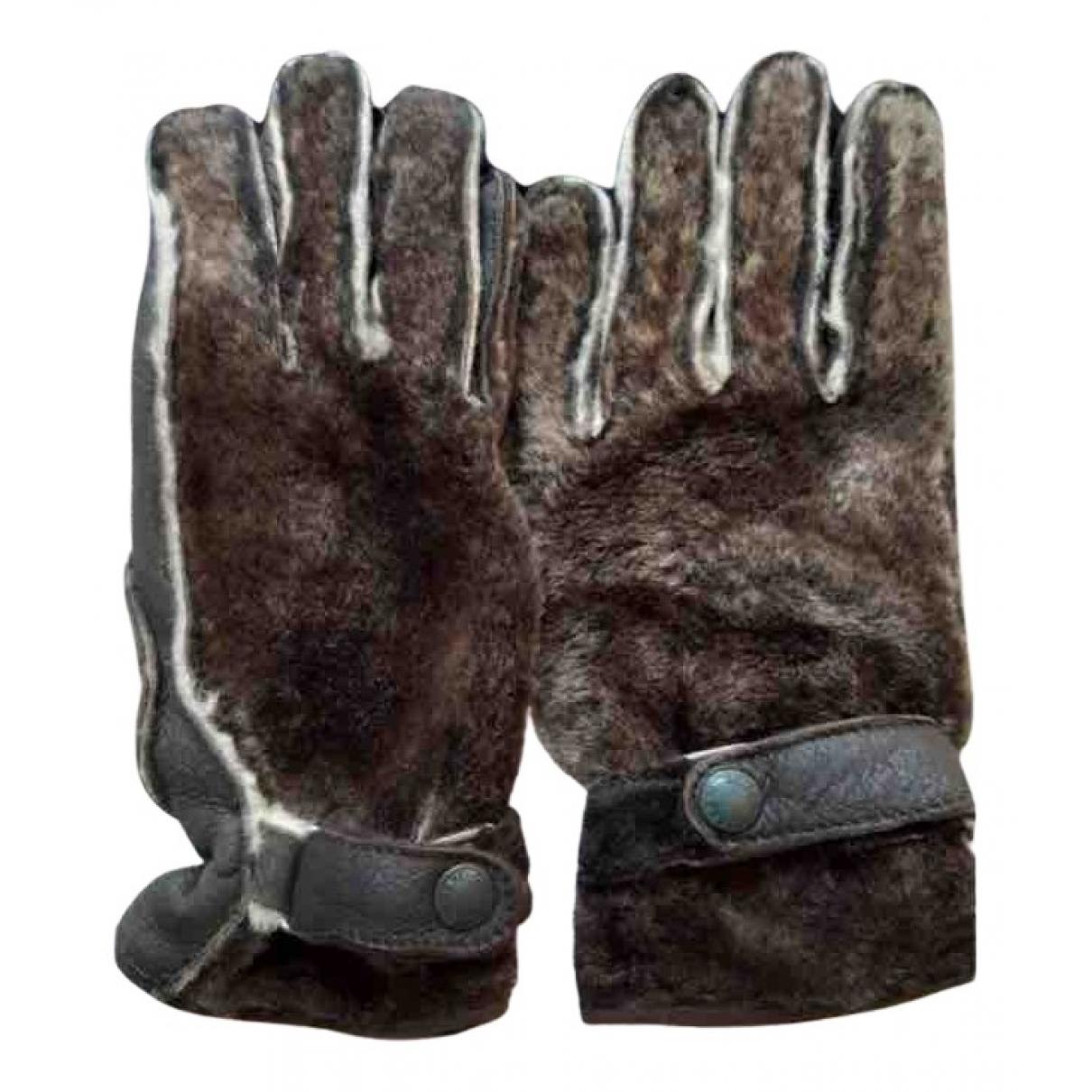 Giorgio Armani \N Handschuhe in  Braun Schaf