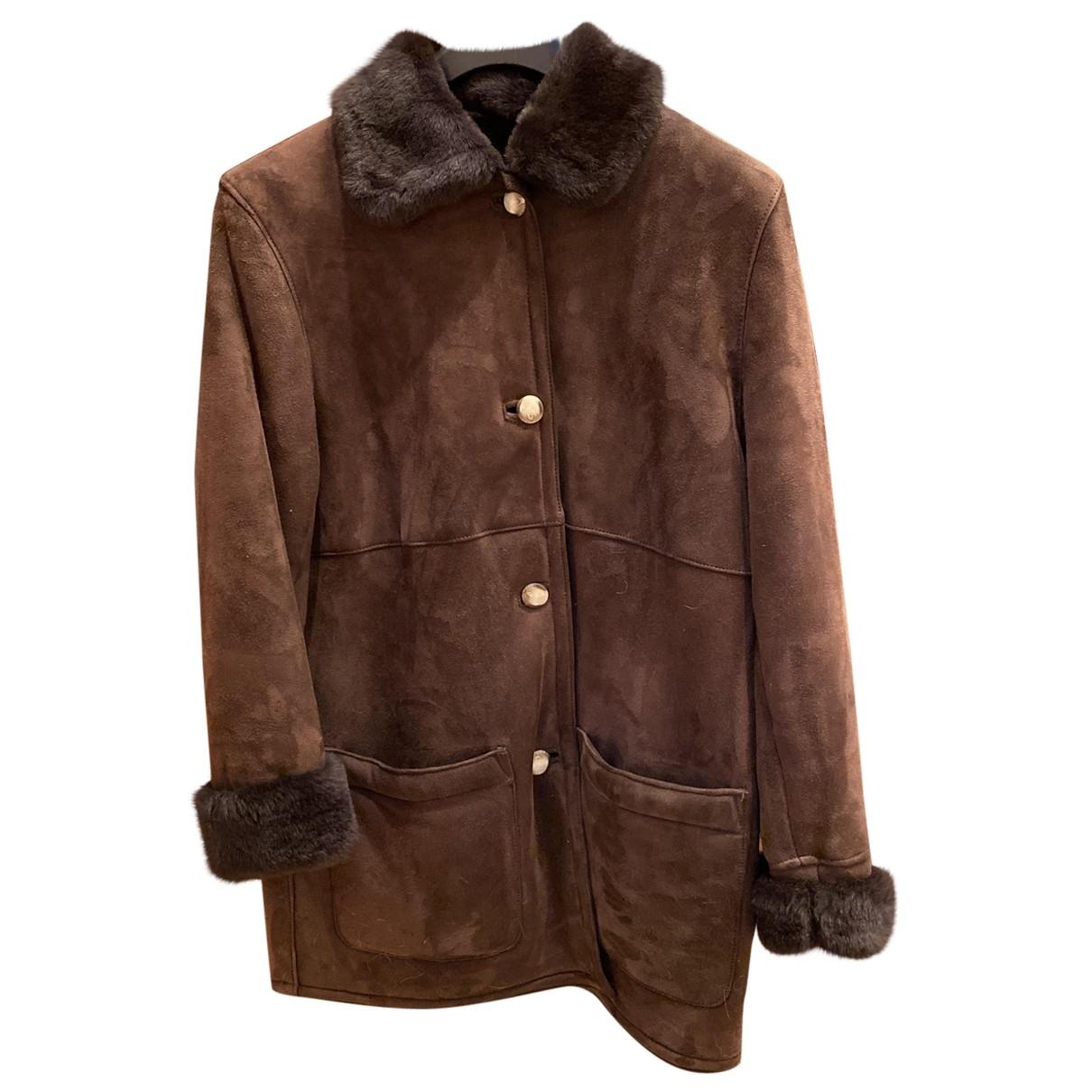 - Manteau Oversize pour femme en mouton - marron