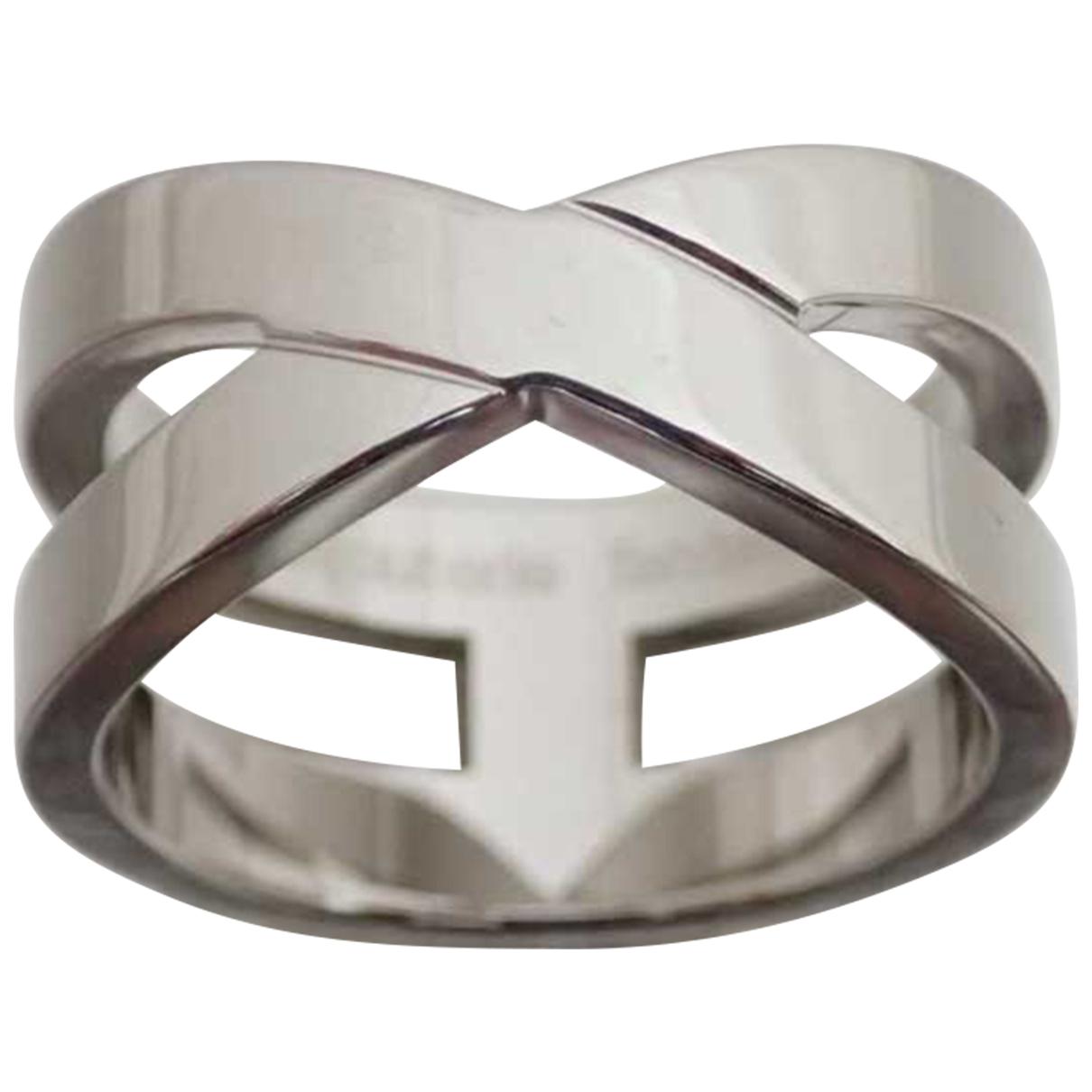Hermes - Bague   pour femme en metal - argente
