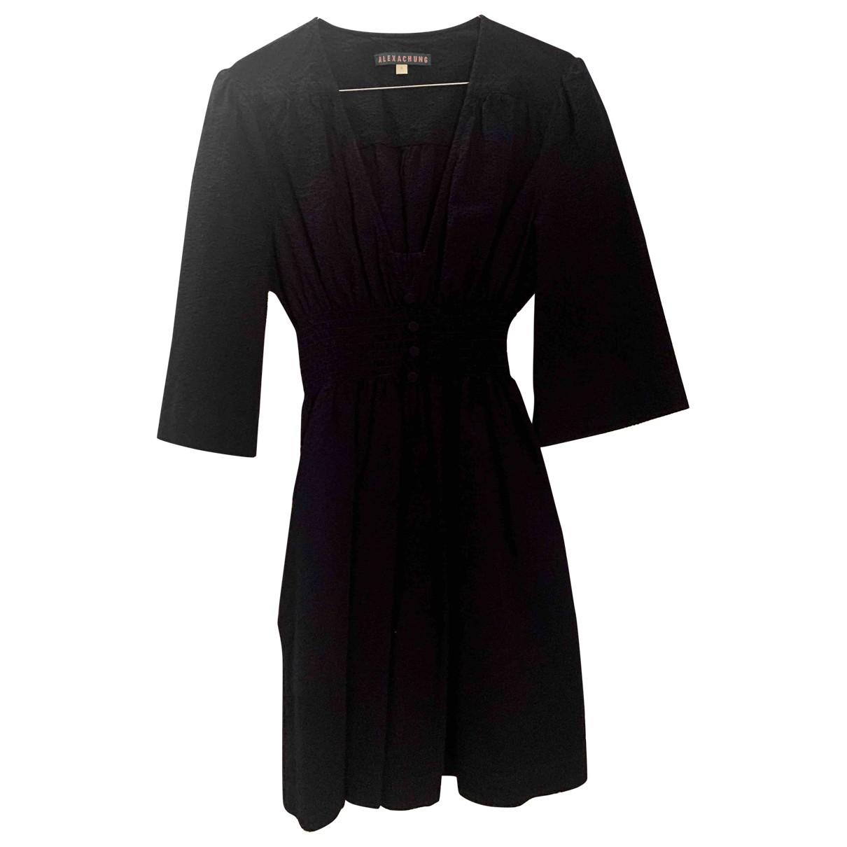 Alexa Chung \N Kleid in  Blau Baumwolle