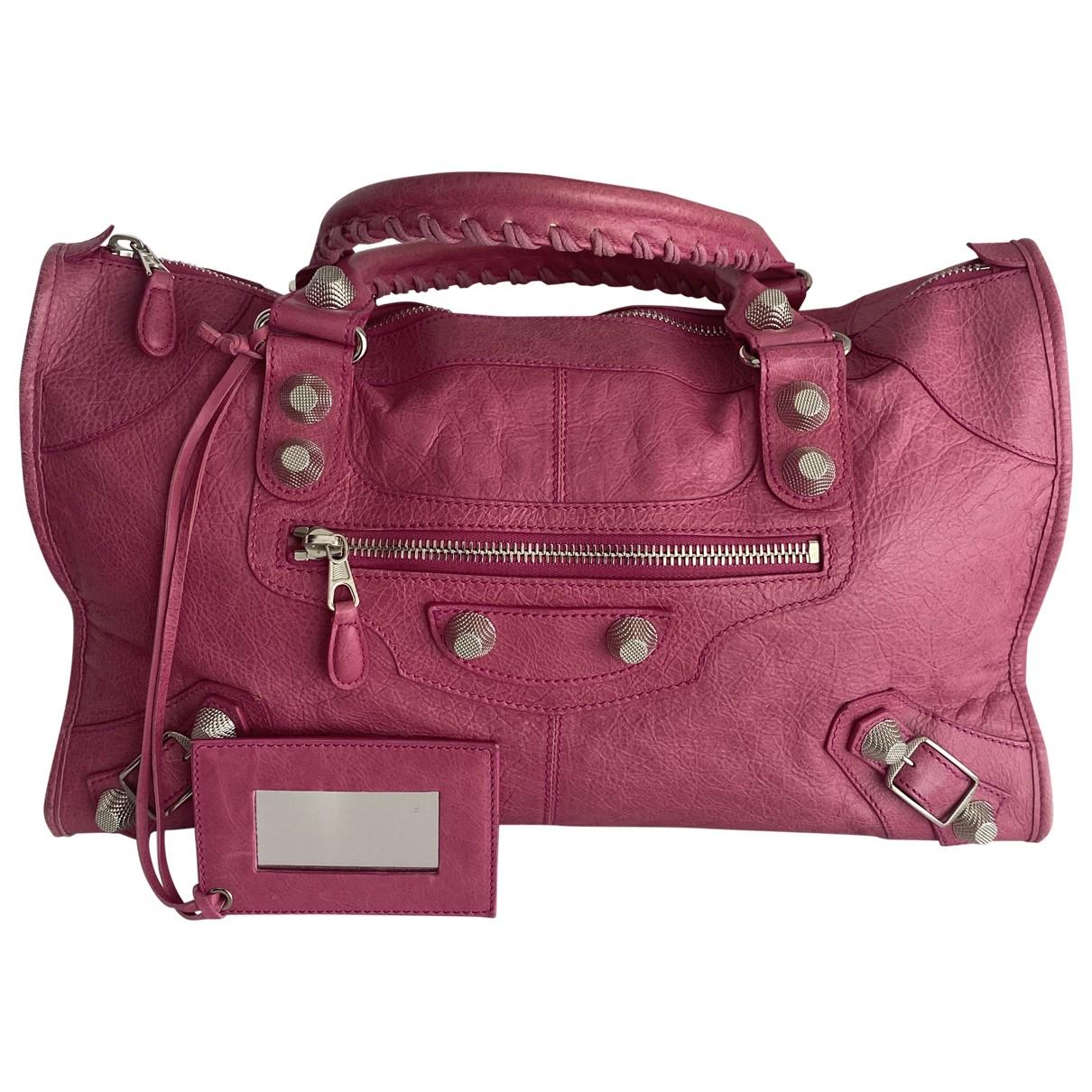Balenciaga - Sac a main Work pour femme en cuir - rose