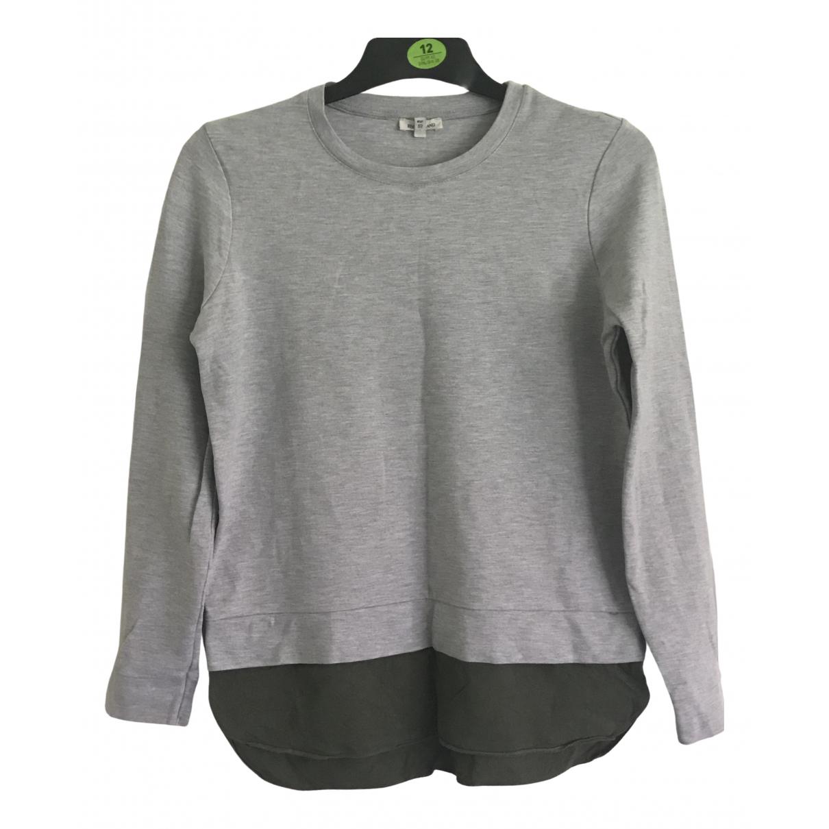 River Island - Pull   pour femme en coton - gris