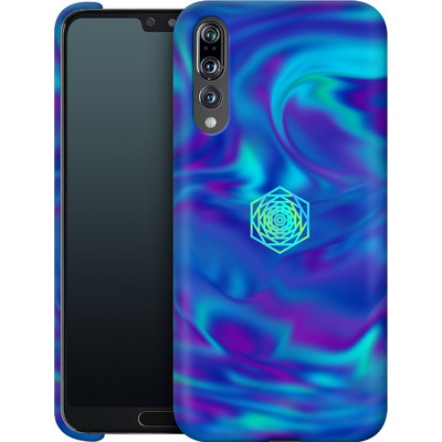 Huawei P20 Pro Smartphone Huelle - PSYCHEDELIC BLUE von Berlin Techno Collective