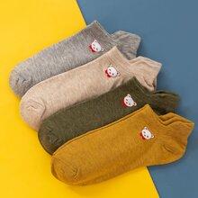 4pairs Bear Pattern Socks
