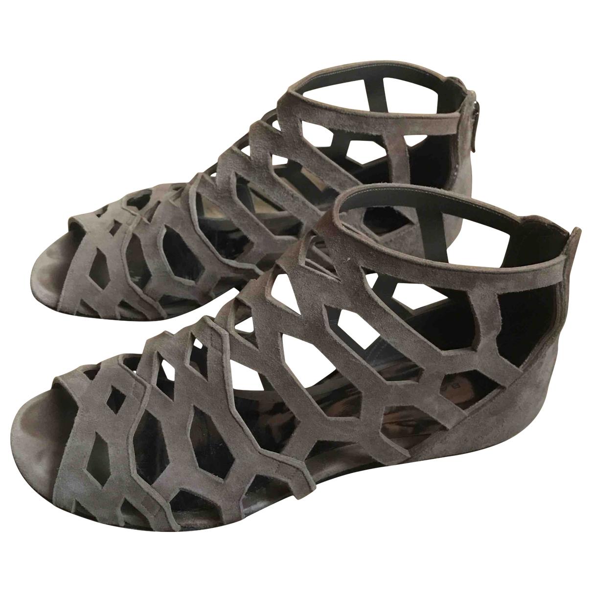 Barbara Bui \N Beige Suede Sandals for Women 38.5 IT
