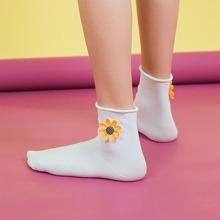 Calcetines aplique con flor