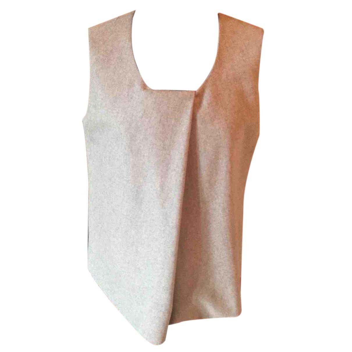 Armani Collezioni N Grey Wool  top for Women 42 IT